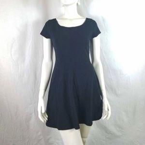 Short Sleeve Mini Skater Dress Fit + Flare Basic